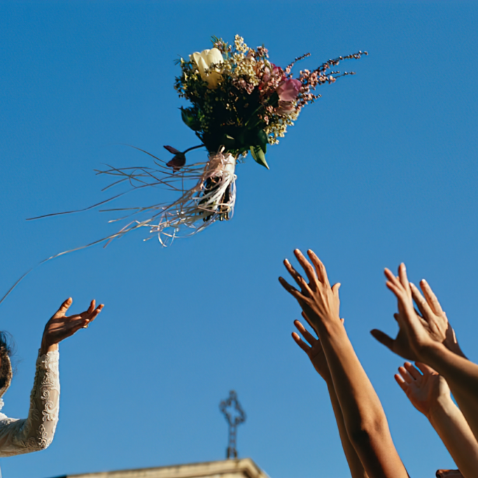 wedding photography contact Bride Throwing Flowers To Bridesmaids Pro Wedding Photographer